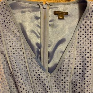 Ann Taylor Blue Fit and Flare Dress